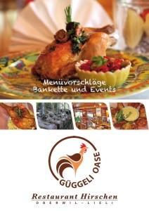 Bankett- und Event-Karte Restaurant Hirschen Lieli